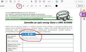 Kako popuniti .pdf Zamolbu na računalu